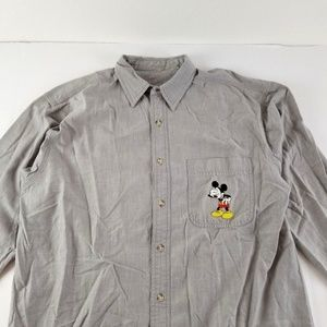 Vintage 90's Disney Mickey Mouse Embroidered Men M